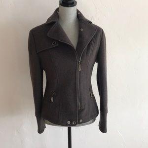 Max Mara Wool Moto Jacket